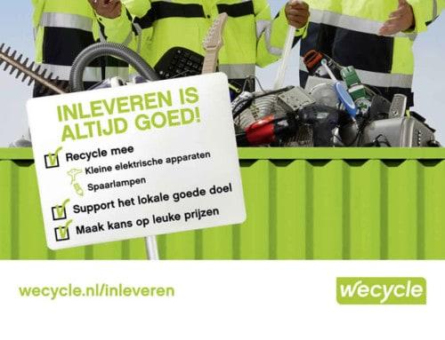 Prijzen winnen met elektrisch afval