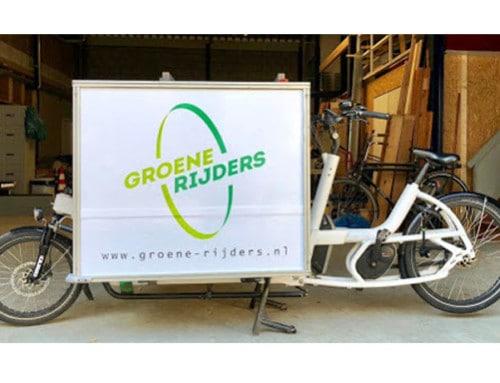 Groene Rijders door de stad