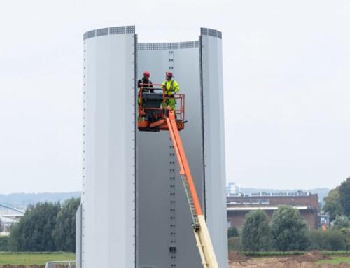 Windmolens in aanbouw